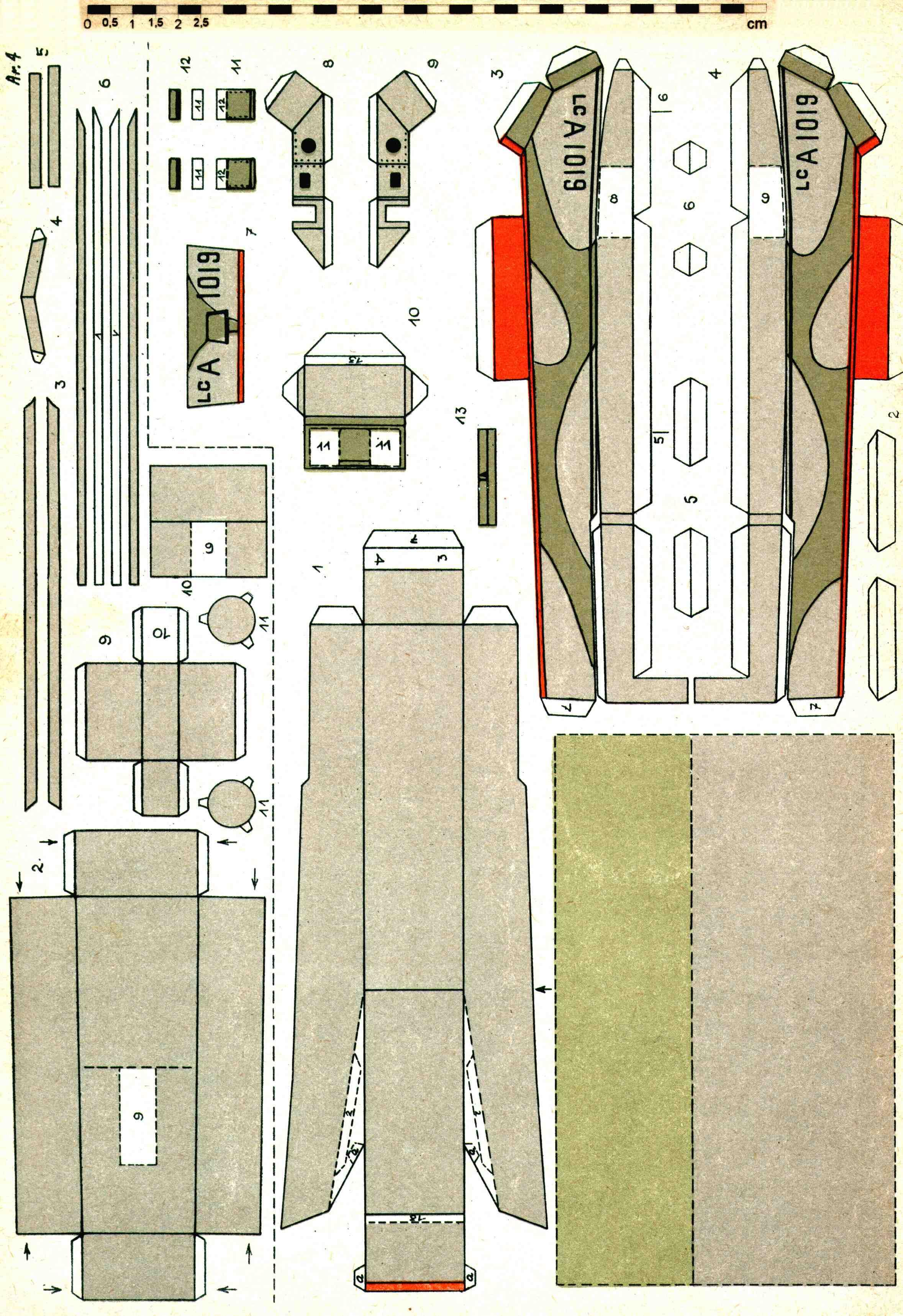 Модели парусника из бумаги